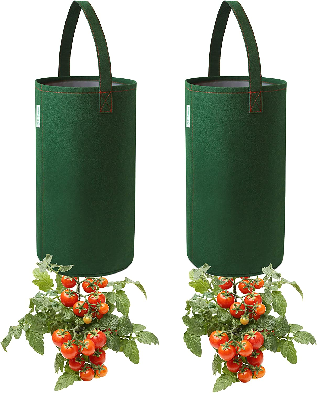Pri Gardens Upside Down Tomato Planter, (2- Pack) Hooks Included (Requires Fertilizer, not Included)