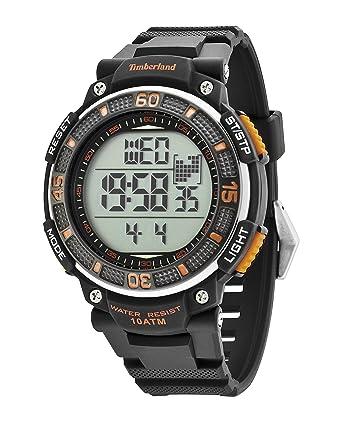 timberland men s digital watch lcd dial digital display and timberland men s digital watch lcd dial digital display and black plastic or pu strap tbl