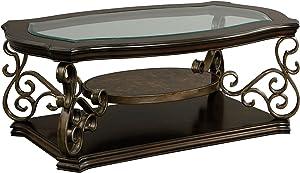 Standard Furniture Seville Cocktail Table, Warm Burnished Bronze Base