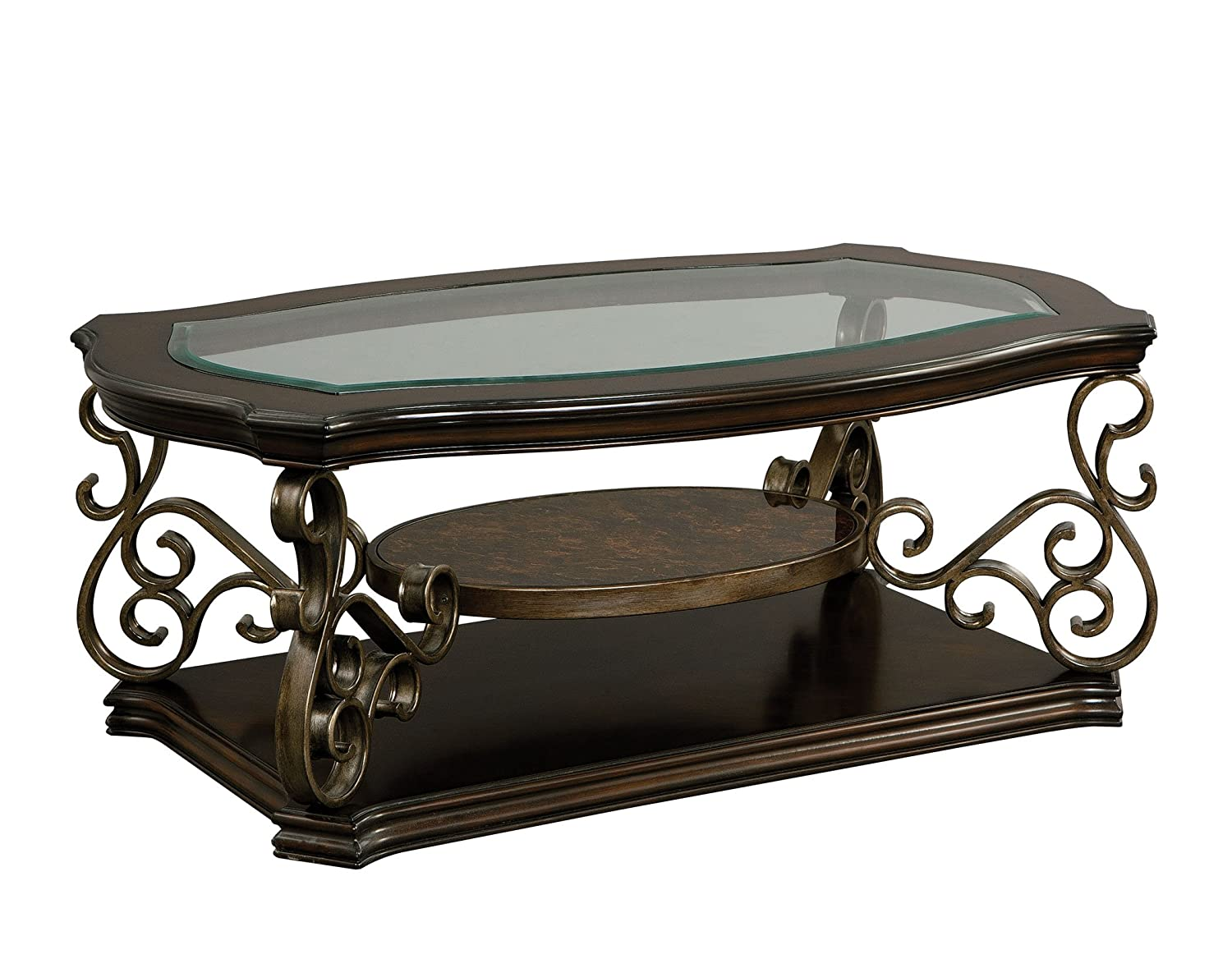 Standard Furniture Seville Cocktail Table, Warm Burnished Bronze Base