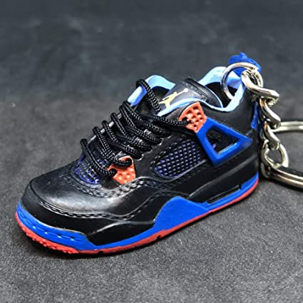 best sneakers 83e32 1e262 Amazon.com   Air jordan IV 4 Retro Cavs Royal Orange Blue Sneakers Shoes 3D  Keychain   Everything Else