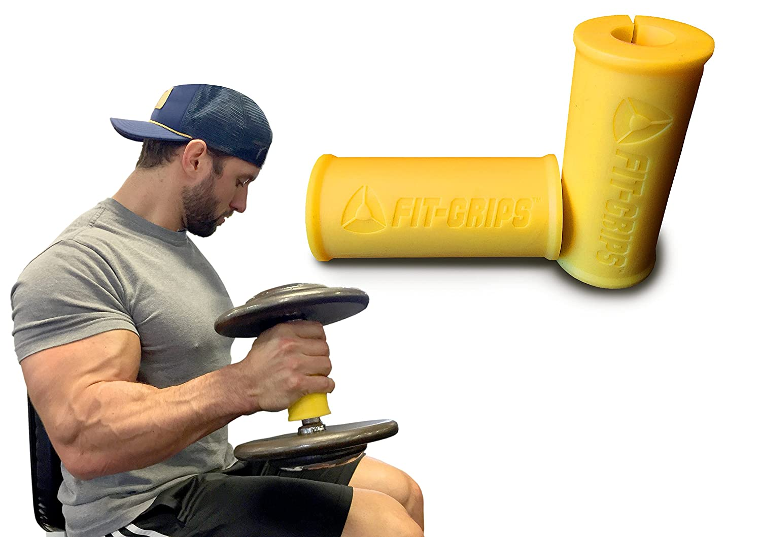 Core Prodigy Flex Arm Blaster with Fit Grips 2.0 for Fat Thick Bar Bicep, Tricep and Back
