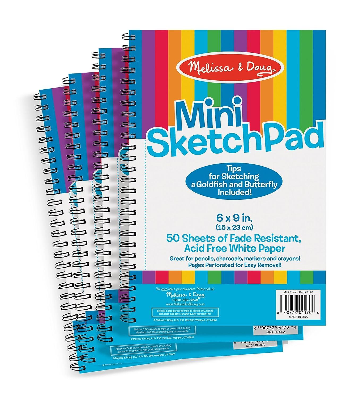 Amazon.com: Melissa & Doug Mini-Sketch Spiral-Bound Pad (6 x 9 ...