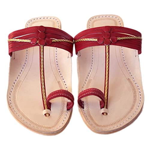 32e884a66 Image Unavailable. Image not available for. Color  Handmade kolhapuri leather  sandals