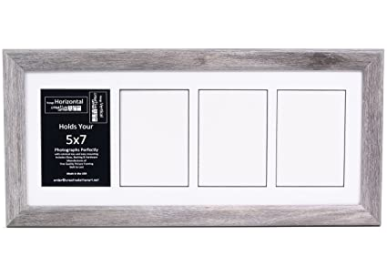Amazon.com: 4 Opening Glass Face Driftwood Picture Frame to hold 5 ...