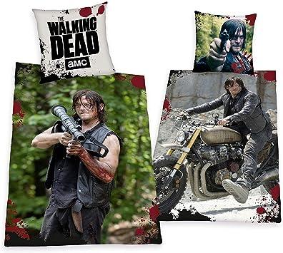 ropa de cama Herding The Walking Dead Daryl Dixon Modelo Especial 135 x 200cm Regalo Nuevo - all-in-one-outlet-24: Amazon.es: Hogar