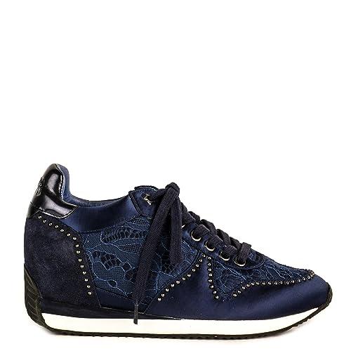 e175e825df8 Ash Zapatos Blush Zapatillas de Cuña Azul Marino Mujer 41 Azul Marino   Amazon.es  Zapatos y complementos