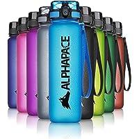 ALPHAPACE Drinkfles 350ml/500ml/650ml/1000ml/1500ml, antilek BPA-vrij waterflesje met een fruitzeef - school, sport…