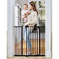 """InnoTruth Extra Tall Baby Gate for Stairs and Doorways, 29""""to 39.6"""" Adjustable Width with 36""""Height,Dog Gate with Wall…"""