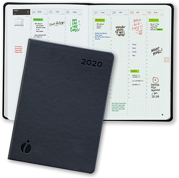 Amazon Com Hourly Planner 2020 24 Hour Planner Weekly And Monthly Appointment Book 2020 Hardcover Japanese Design Minimalist Annual Planner With Time Slots 6 X 8 5 Office Products