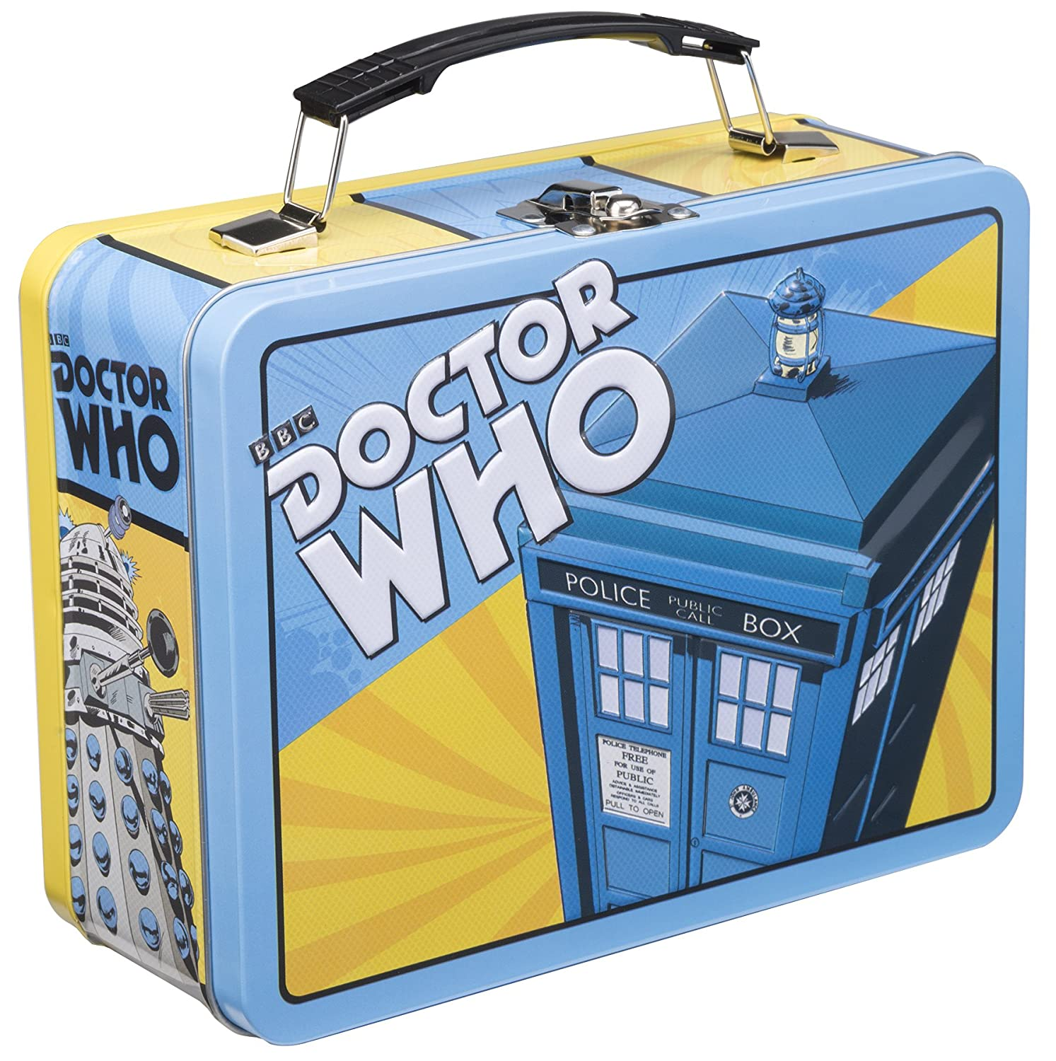 Vandor 16070 Doctor Who Large Tin Tote, Multicolor Lunch Supplies School Work Geek Tardis
