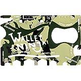 Wallet Ninja 18-in-1 Multi-purpose Credit Card Size Pocket Tool (Camo)