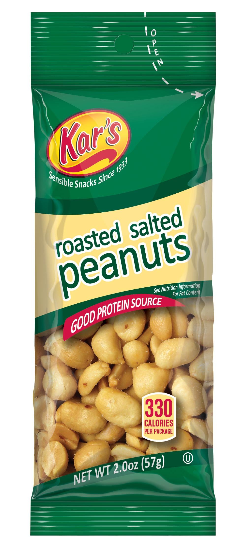 Kar's Nuts Salted Peanuts, 2-Ounce Bags (Pack of 72)