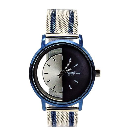 Reloj Skyline Deportivo Azul/Plata