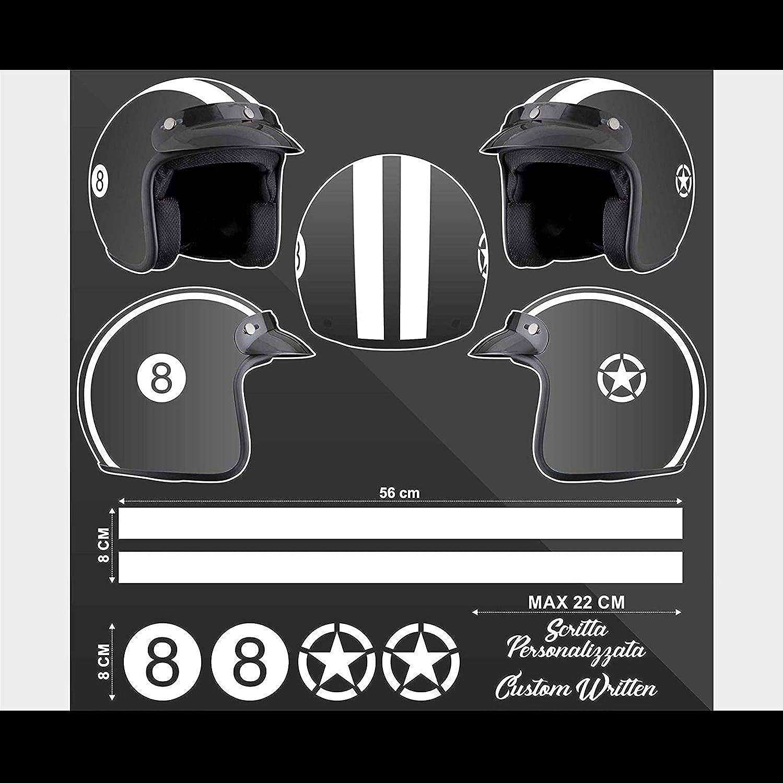 Supersticki Helm Aufkleber Set 8 Racing Streifen Motorrad Bike Motorcycle Aufkleber Bike Auto Racing Tuning Aus Hochleistungsfolie Aufkleber Autoaufkleber Tuningaufkleber Hochleistungsfolie Auto