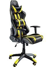 Diablo® X-One Gaming Silla de Oficina Mecanismo de inclinación soporta hasta 150 kg cojin Lumbar y Almohada Cuero sintético