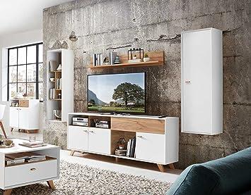 Anbauwand, Wohnwand, Schrankwand, Fernsehwand, Wohnzimmerschrank,  Wohnzimmerschrankwand, Eiche, Navarra,