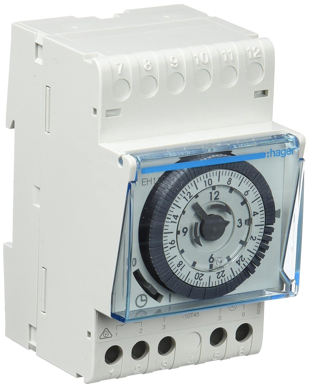 Hager EH110 - Interruptor horario esfera diaria sin reserva 1 conmutado 16a