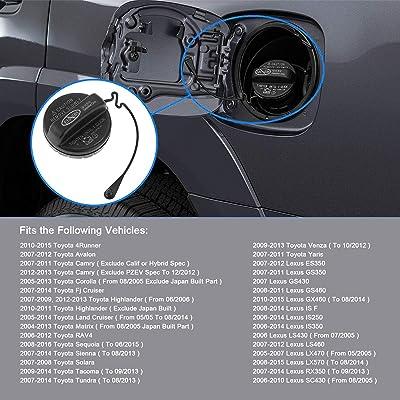 4Runner Avalon Camry Corolla Highlander Matrix RAV4 Tacoma ES350 GS350 GS460 Fuel Tank Filler Cap 77300-06040 7730006040 Compatible with Toyota Lexus Gas Cap