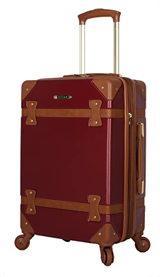 36ea8b648551 Rosetti Luggage Carry On Expandable Hardside Suitcase With Spinner Wheels  (20in, Burgundy)