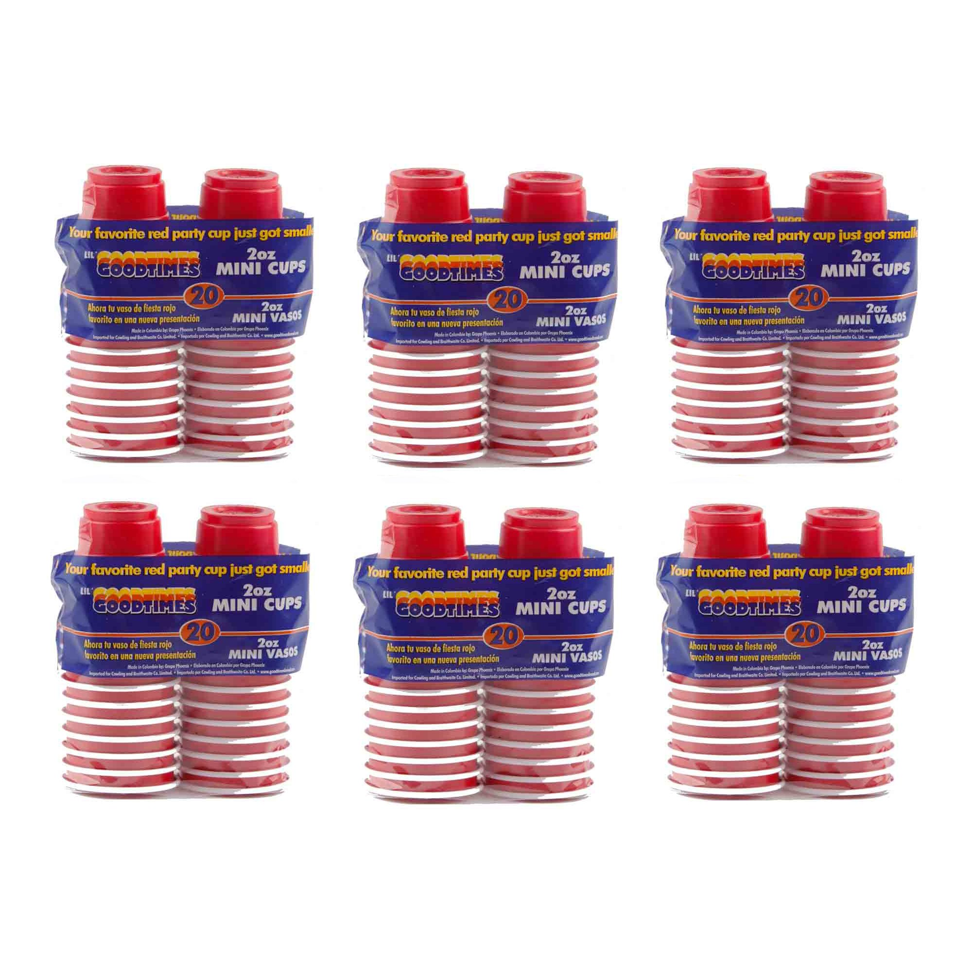 Goodtimes Mini Party Cup, 2-Ounce, Red, 120 Cups