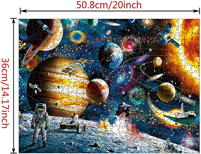 laqula 500 Piece Jigsaw Puzzle for Kids Adult Educational Toys Fun Games Gifts for Kids Adults w// Free Puzzle Saver