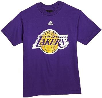 NBA Los Angeles Lakers Camiseta de manga corta Distressed Logo - r8 a3pl3la juventud, Infantil, morado: Amazon.es: Deportes y aire libre