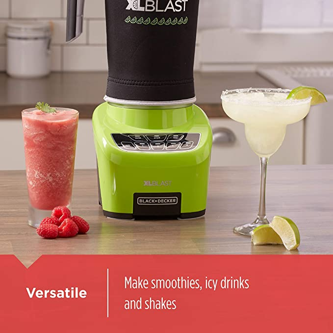 BLACK+DECKER XL Blast Drink Machine, Lime Green, BL4000L (Encerado ...