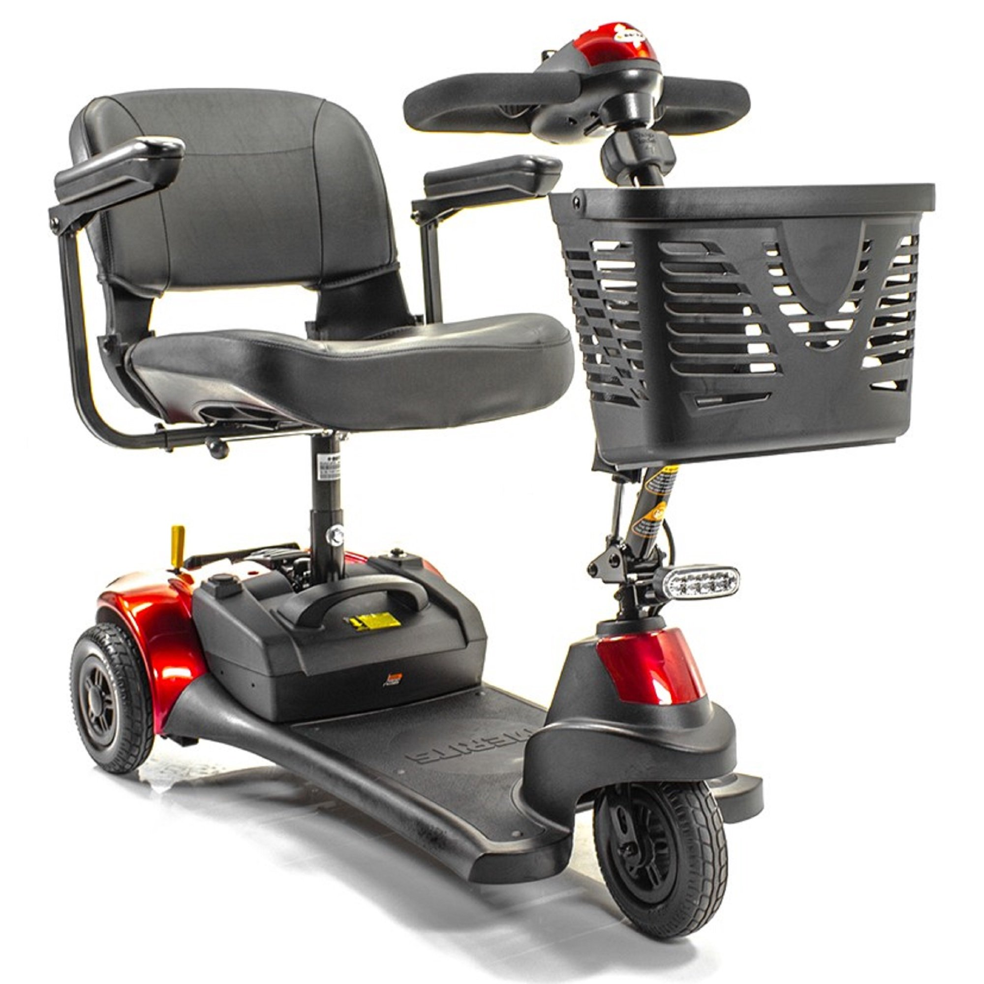 Merits Health Products - Roadster Deluxe - 3-Wheel Scooter - 18''W x 15''D - Red