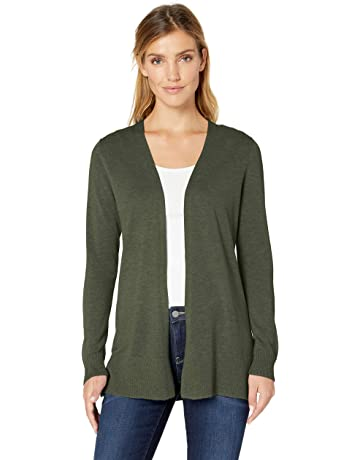 7bd10b97f094e3 Amazon Essentials Women's Lightweight Open-Front Cardigan Sweater