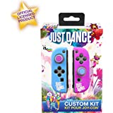 Just Dance 2019 – 定制套件 – JoyCon硅胶保护壳,防滑软壳带精密拇指握把帽配件,适合任天堂切换Joy-Con 控制器操纵杆