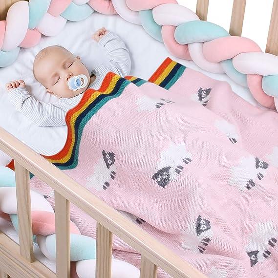 MiMiMiXiong mantas de punto para bebé, doble capa, suave ...