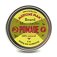 Medicine Man's Beard Balm; Promotes Healthy Beard Growth, Premium Natural and Organic Butters and Oils, 2 Ounce, Mild Hold