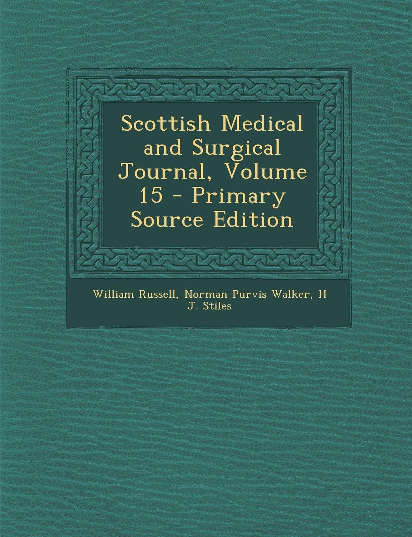 Download Scottish Medical and Surgical Journal, Volume 15 PDF