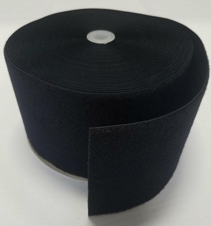 6 BLACK SEW-ON HOOK and LOOP FASTENER - LOOP SIDE ONLY - 1 YARD Ameratex