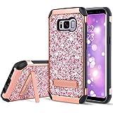 UARMOR Case for Samsung Galaxy S8 Plus / Galaxy S8+, Luxury Glitter Bling Rugged Shockproof Dirtproof Stand Hybrid Slim…