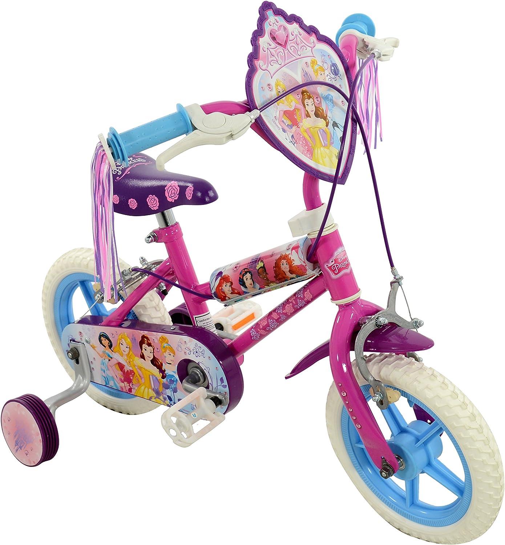 """Disney Princesse filles vélo 12/"""" Enfants Premier Vélo vitesse 1 violet avec stabilisateurs"""