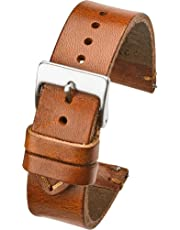 Hand made genuine vintage leather watch strap with quick release steel spring bars - Black, Brown and Tan in Sizes 18mm, 20mm, 22mm (fits wrist size 6 1/4 inch to 8 inch)