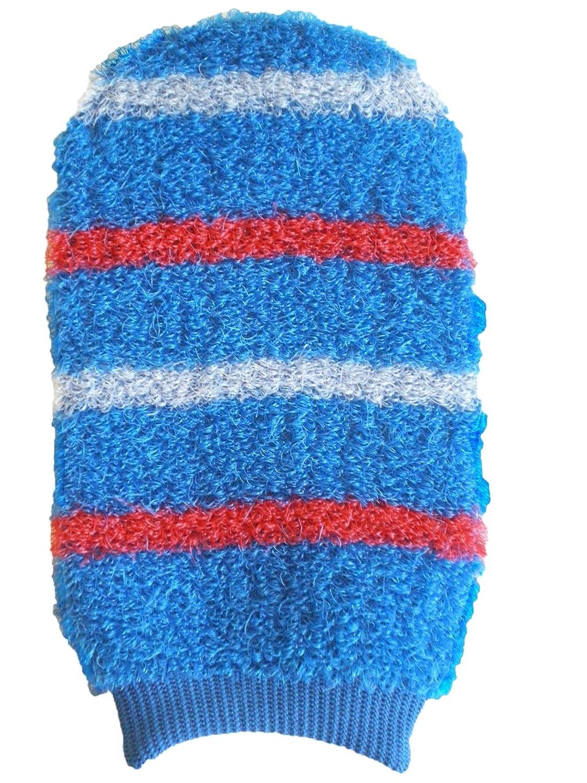 Magit - Guanto a manopola da bagno, in materiale sintetico, motivo a 4 righe MA.G.I.T. SAS 8103