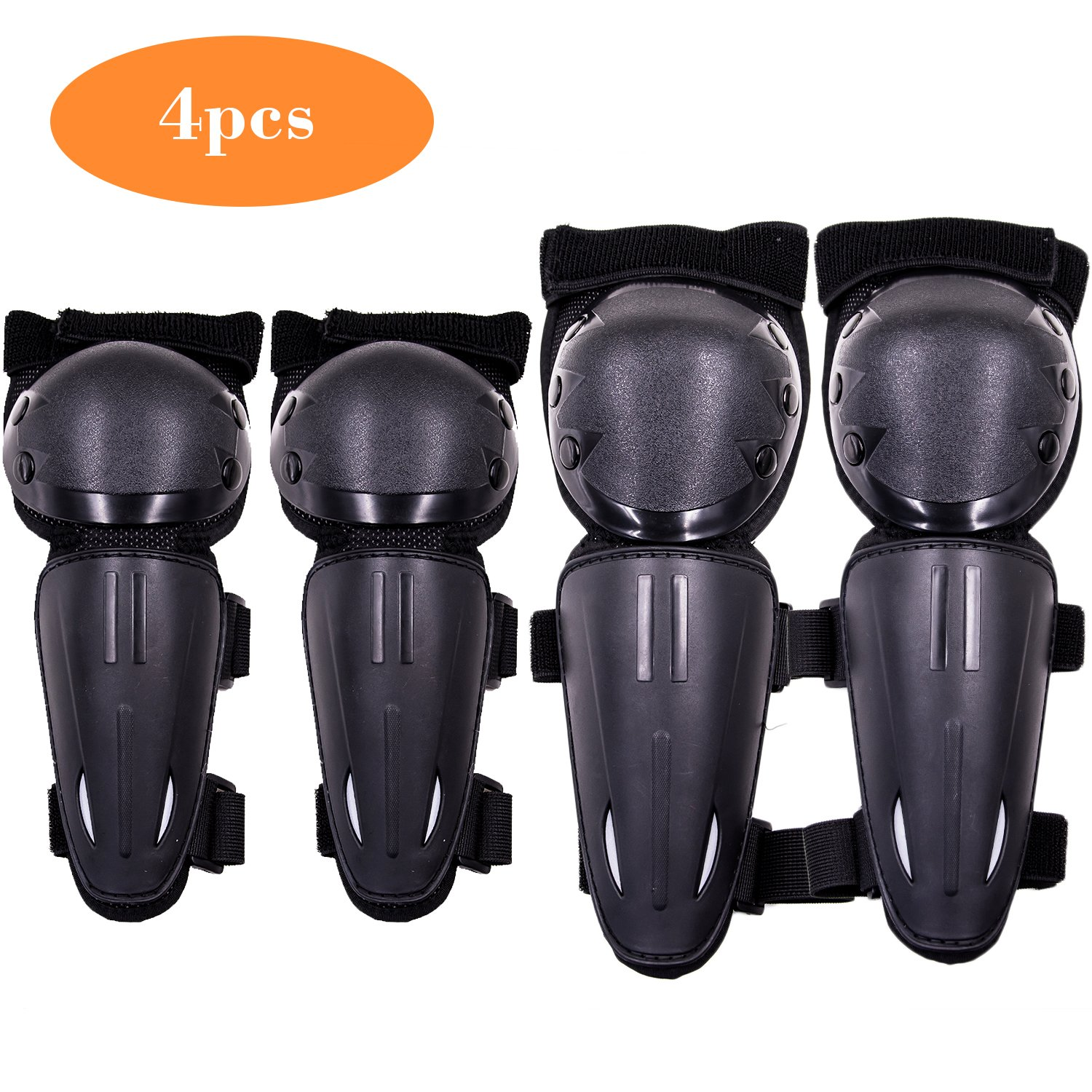 Webetop 4pcs Kids Knee Pads Elbow Guards Protective Gear Set for Multi Sports Skateboarding Inline Roller Skating Cycling Bikeing BMX Bicycle Scooter-Fits 6-13 Age Children Web3079-04