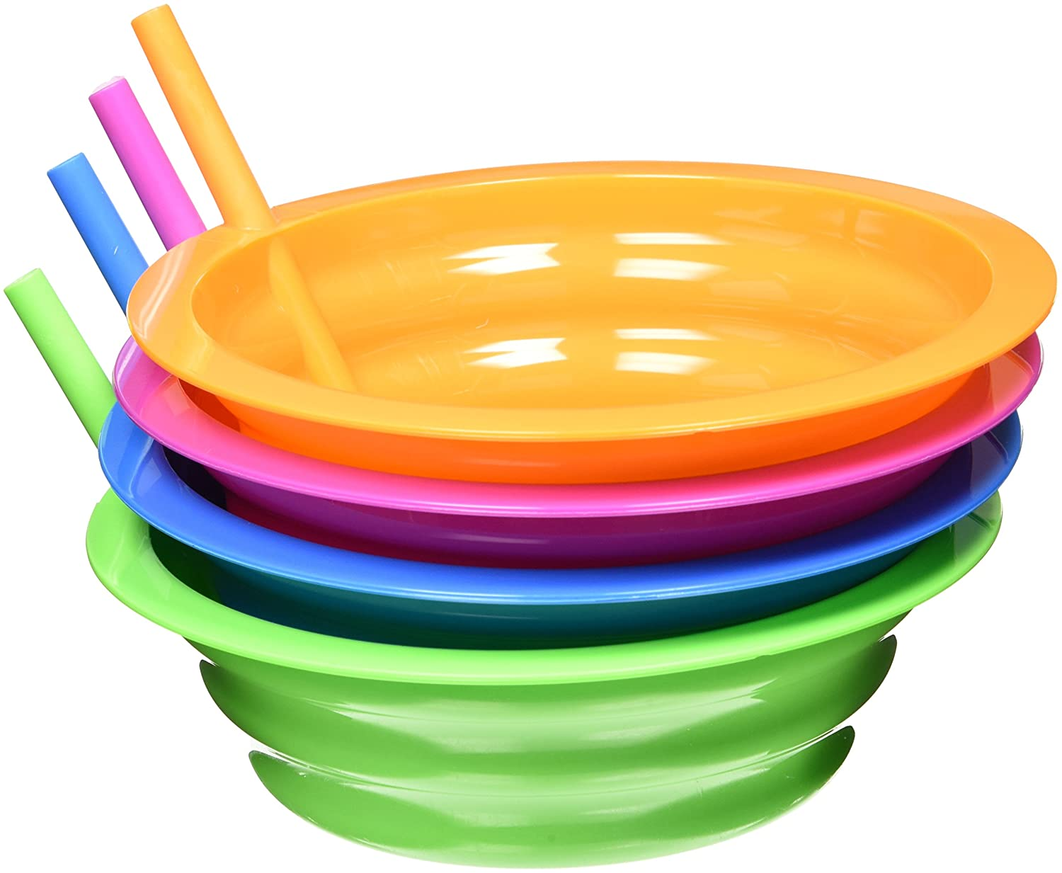 Arrow Plastic Sip-A-Bowl 22 oz, Assorted Colors - Pack of 4 00265 x 4