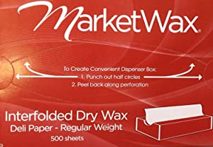Market Wax - 8in x 10.75in - Wax Paper Sheets - Box of 500 Sheets