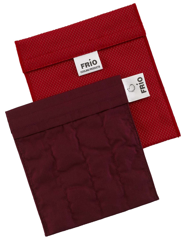 Frio - Bolsa isotérmica para mantener insulina, color rojo, 8 x 18 cm
