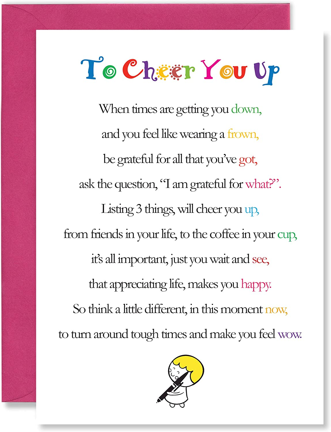Cheer up card Thinking of you friendship family
