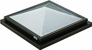Sunoptics SUN R2020 PYL TGZ 50CC2 800MD BZ 2-Feet by 2-Feet Triple Glazed Fixed Curb-Mounted Prismatic Pyramid Skylight, Bronze