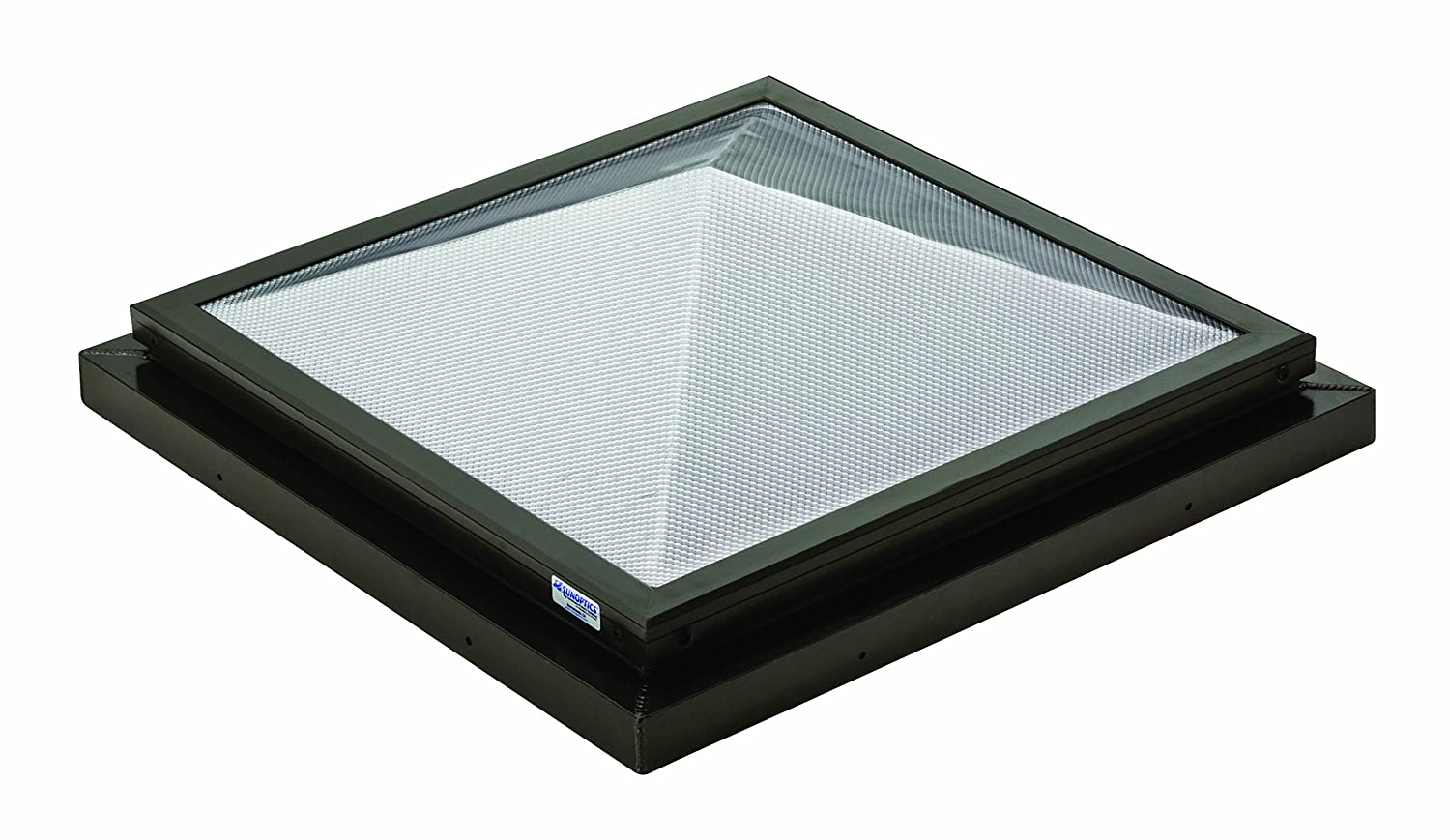 Sunoptics SUN R2020 PYL TGZ 50CC2 800MD BZ 2 Feet by 2 Feet Triple Glazed Fixed Curb Mounted Prismatic Pyramid Skylight Bronze