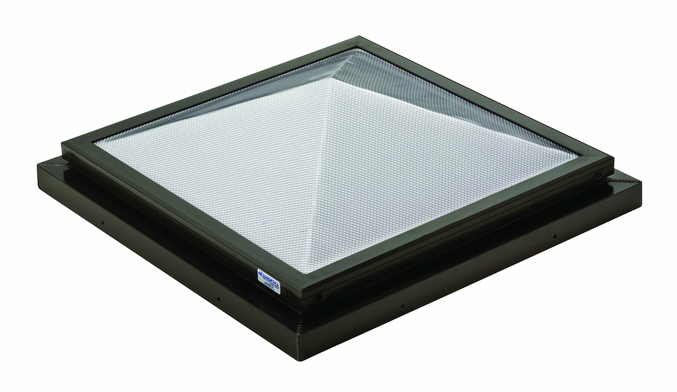 Sunoptics SUN R2020 PYL TGZ 50CC2 800MD BZ  2-Feet by 2-Feet Triple Glazed Fixed Curb-Mounted Prismatic Pyramid Skylight, Bronze