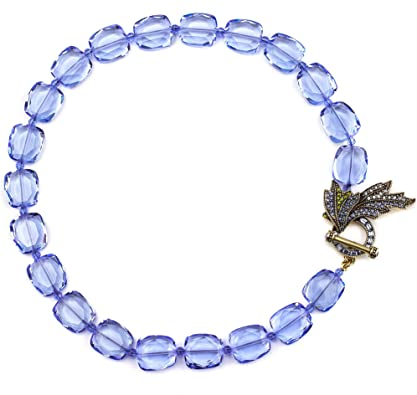 Faceted Square Beads Sapphire Mary Teething Necklace