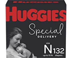 Newborn Diapers - Huggies Special Delivery Hypoallergenic Disposable Baby Diapers, 132ct, One Month Supply