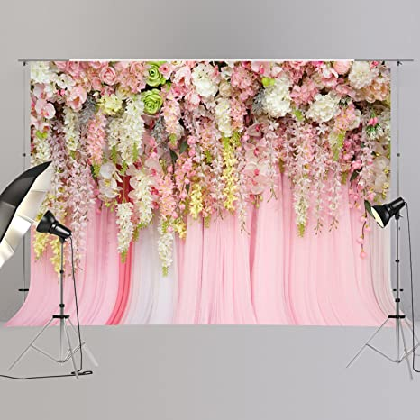 Amazon bridal shower large wedding floral wall backdrop pink bridal shower large wedding floral wall backdrop pink and white rose 3d flowers curtain dessert table mightylinksfo